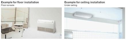 fujitsu floor ceiling console aircon
