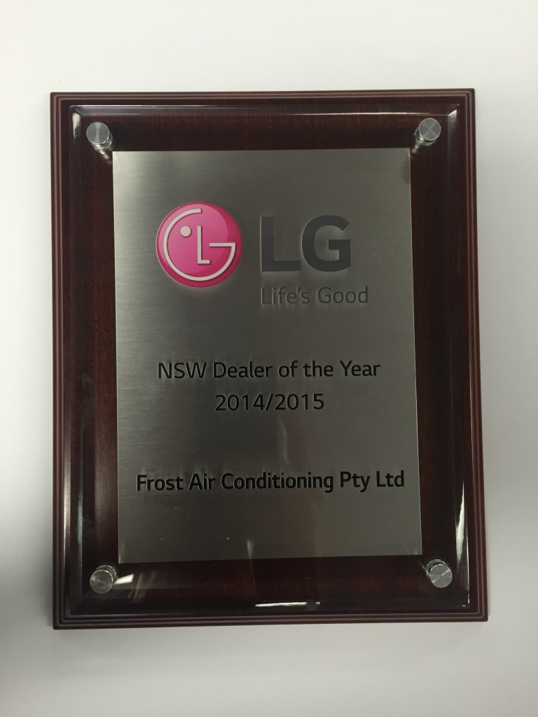 LG NSW Dealer of Year 2014-2015