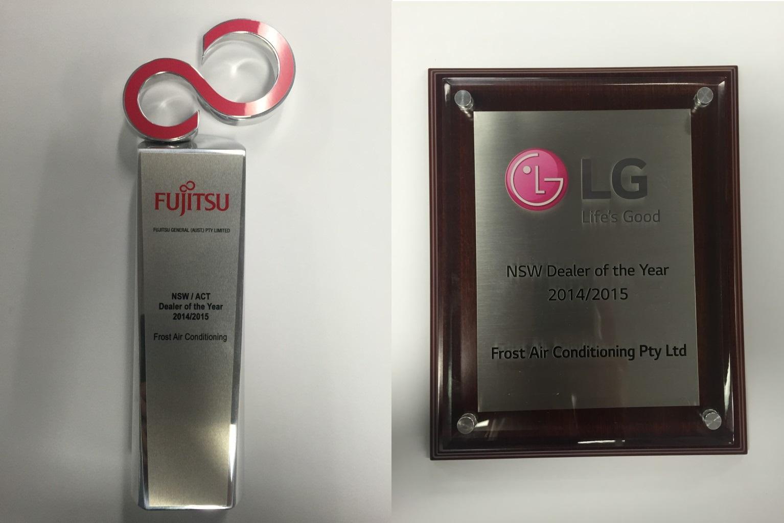 Fujitsu and LG NSW Dealer of year 2014/2015! #9C2F3F