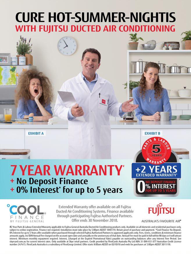 fujitsu air conditioning summer promotion