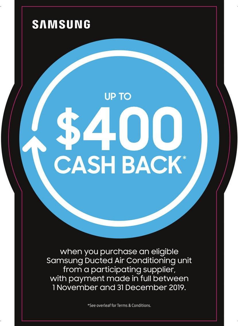 Samsung air con cash back