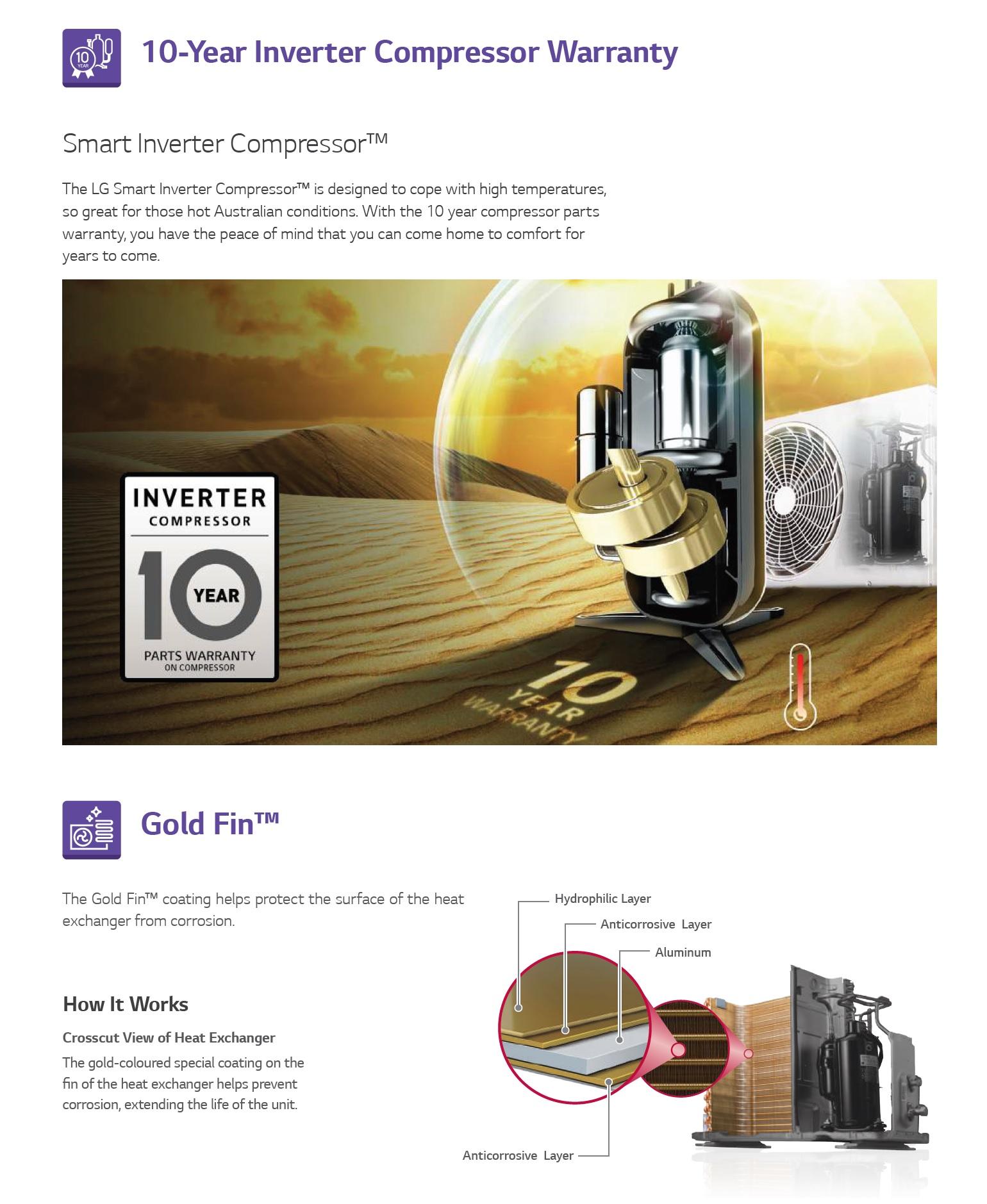 LG air conditioner 10 year warranty
