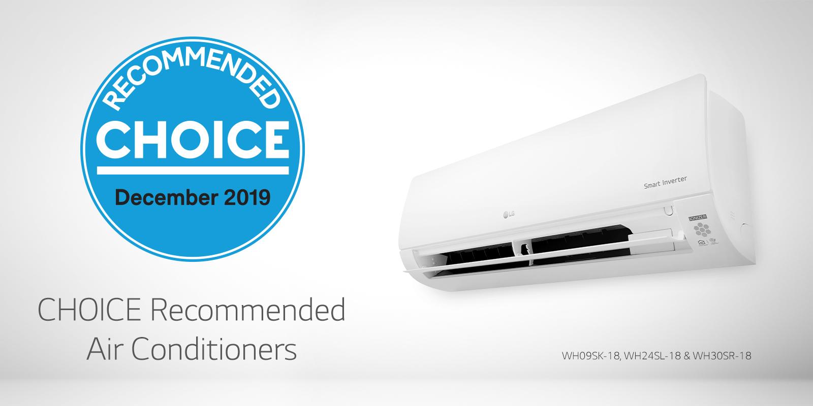LG air conditioning choice award