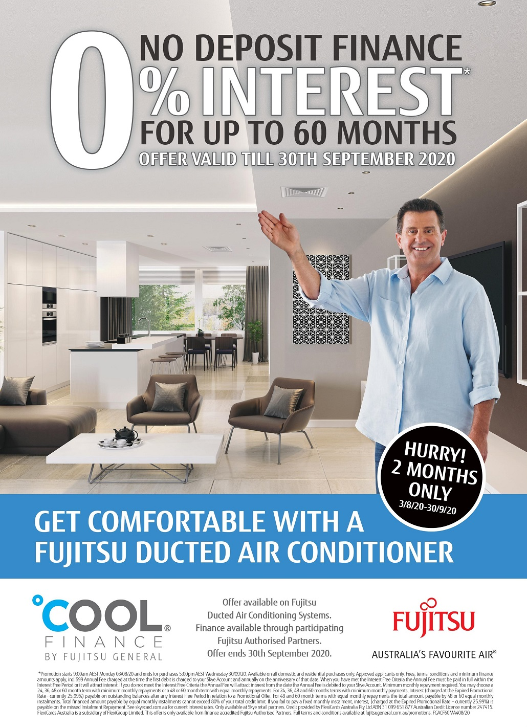 fujitsu 60 months ducted interest free promo