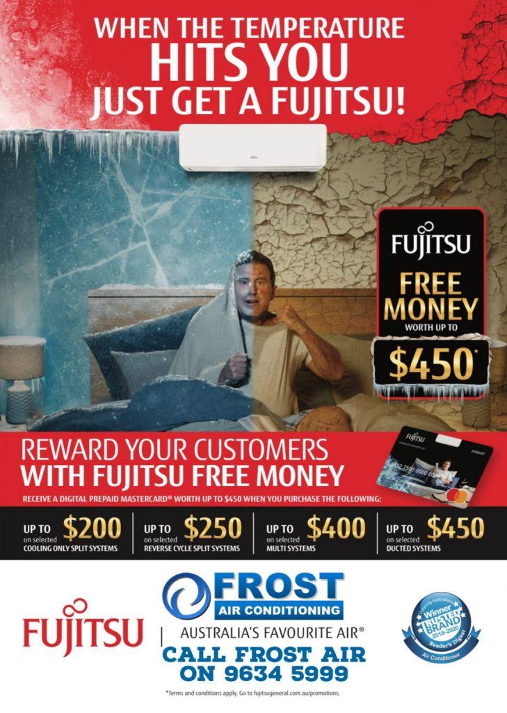 fujitsu air free money promotion 2021